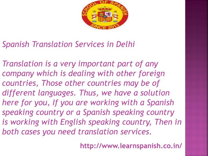 Spanish Translation Services in