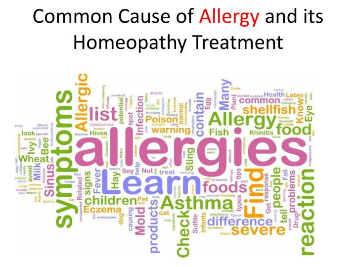 Common Cause of Allergy and its