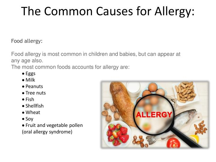 The Common Causes for Allergy: