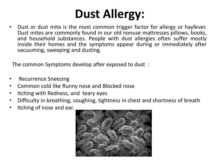 Dust Allergy: