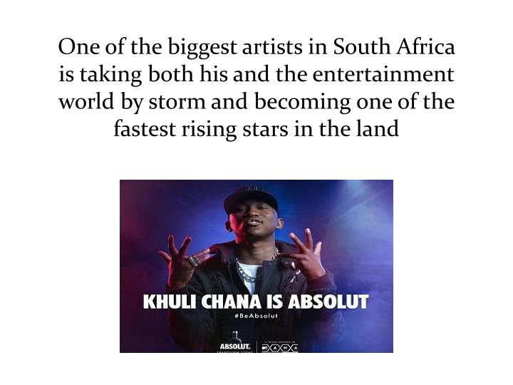 One of the biggest artists in South Africa is taking both his and the entertainment world by storm a...