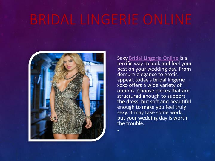 Bridal lingerie online