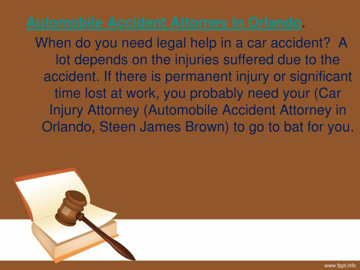 Automobile Accident Attorney in Orlando