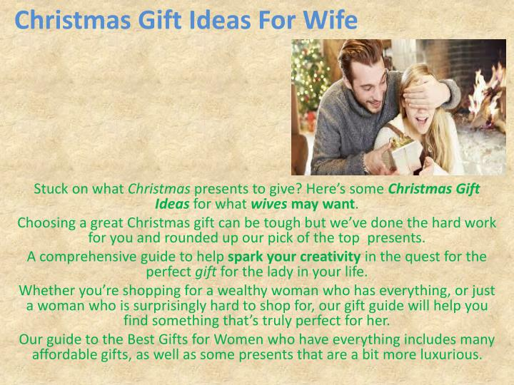 Ppt christmas gifts for women powerpoint presentation Christmas presents for wife