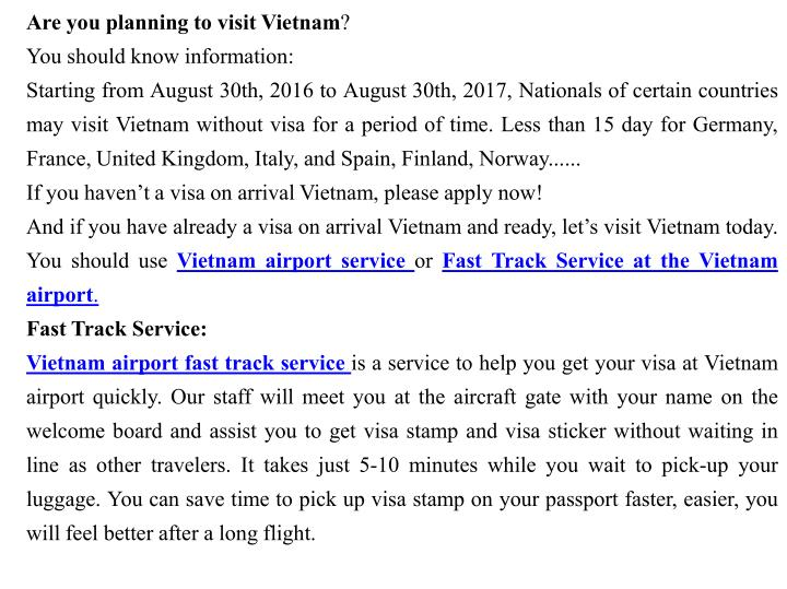 Are you planning to visit Vietnam