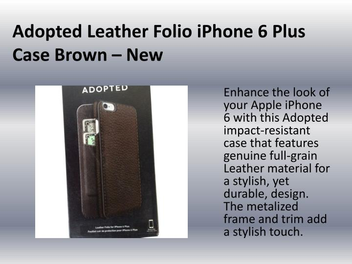 Adopted Leather Folio
