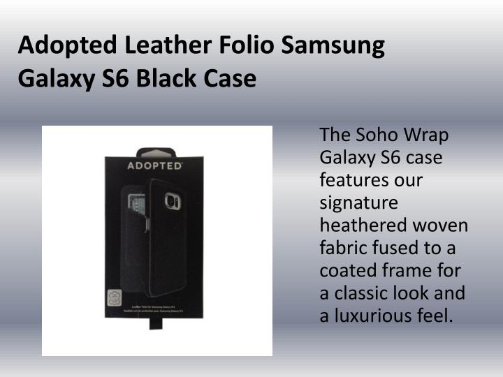 Adopted Leather Folio Samsung Galaxy S6 Black Case