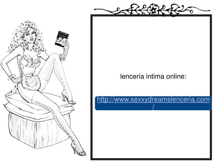 lenceria intima online: