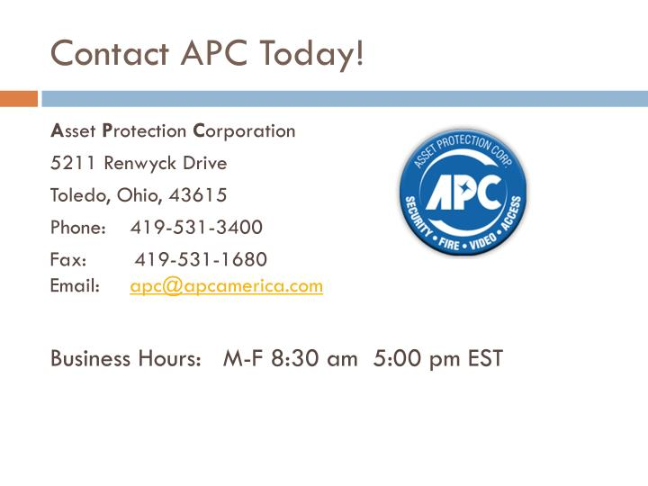 Contact APC Today!
