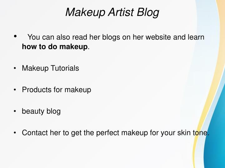 Makeup Artist Blog
