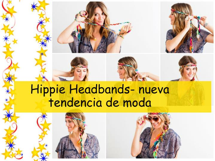 Hippie headbands nueva tendencia de moda