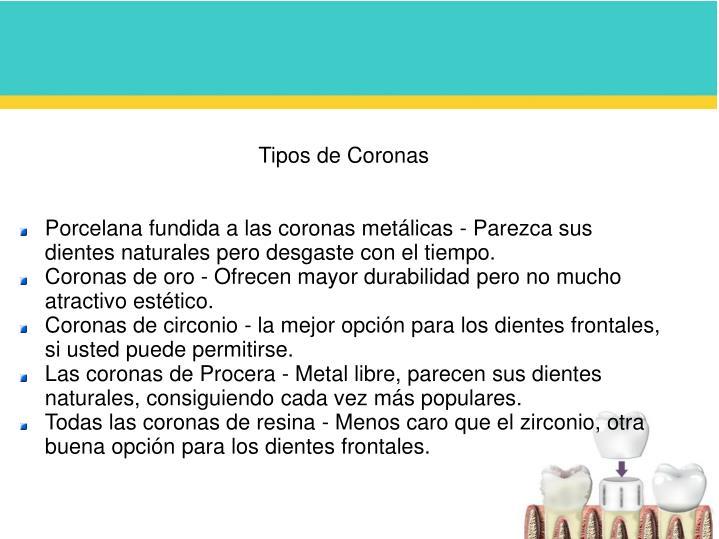 Tipos de Coronas