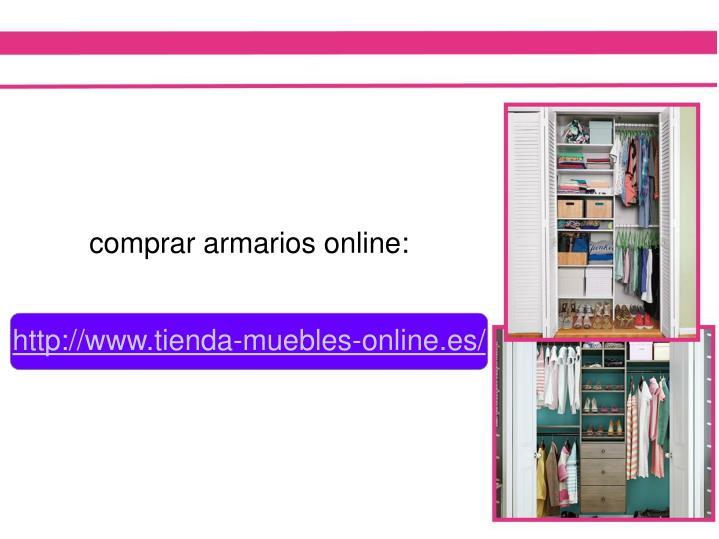 comprar armarios online: