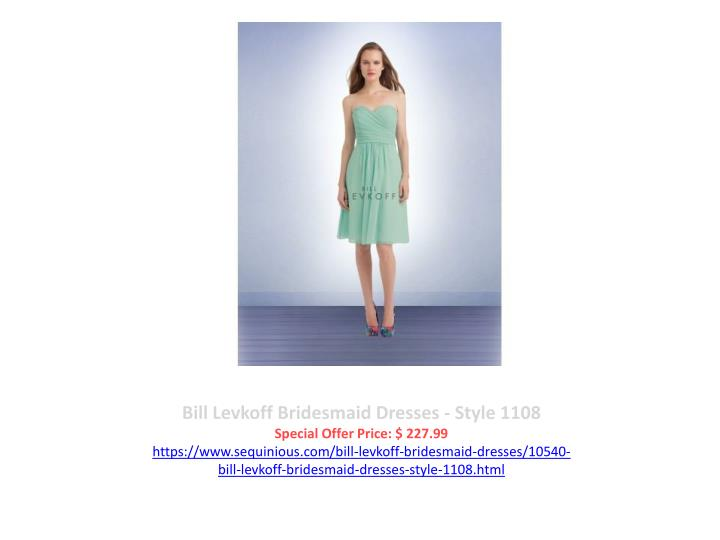 Bill Levkoff Bridesmaid Dresses - Style 1108