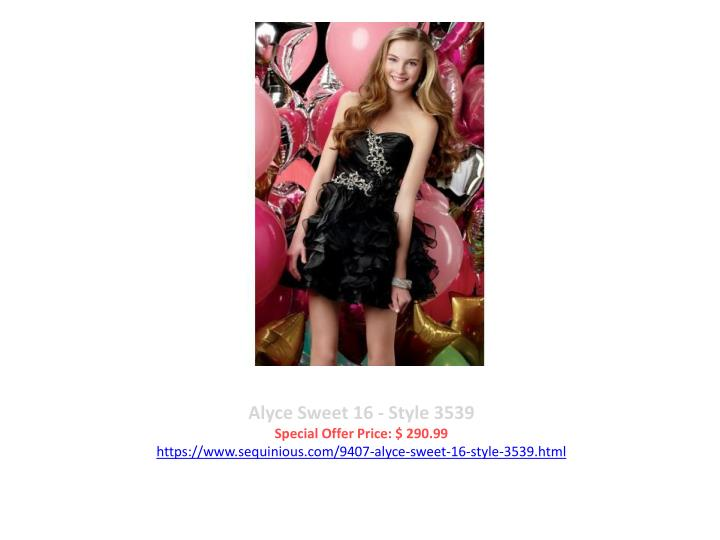Alyce Sweet 16 - Style 3539