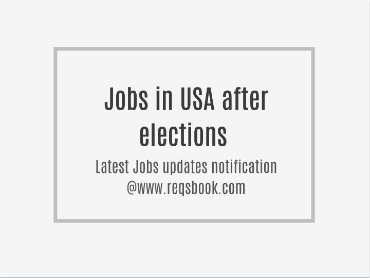 Jobs in USA after