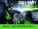 review call of duty black ops 2