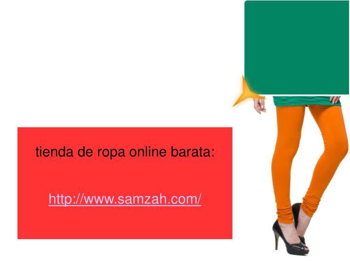 tienda de ropa online barata:
