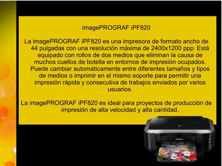 imagePROGRAF iPF820