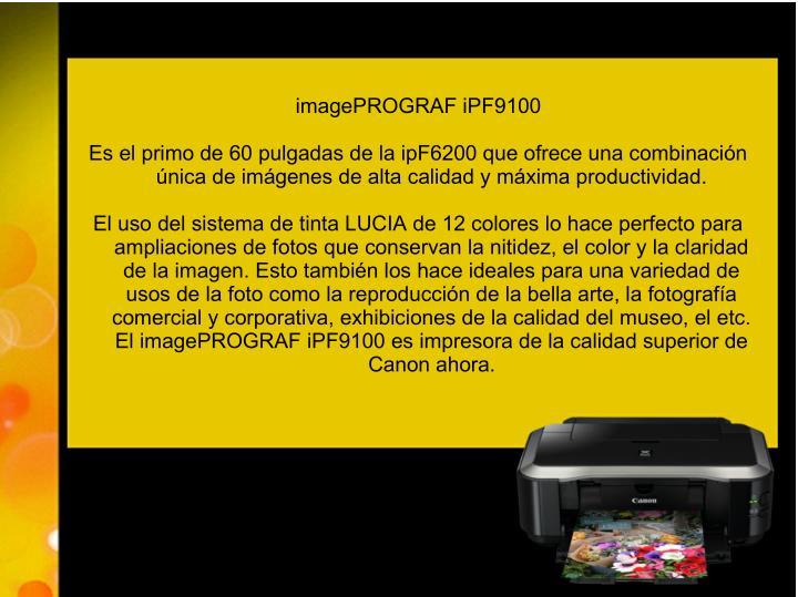 imagePROGRAF iPF9100