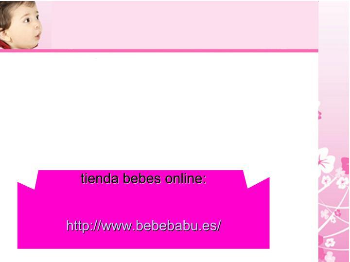 tienda bebes online: