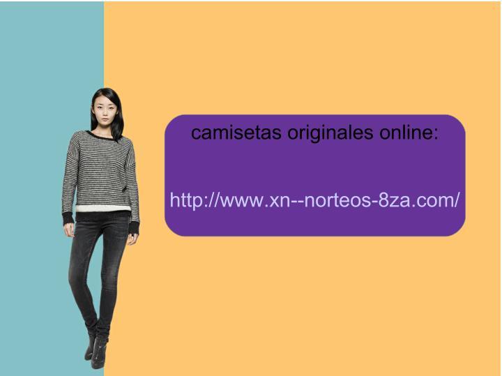 camisetas originales online: