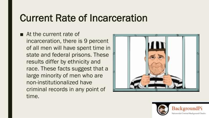 Current rate of incarceration