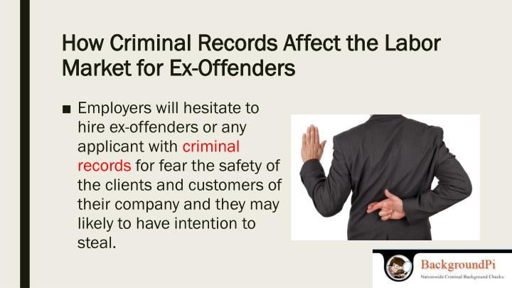 How Criminal Records Affect the Labor Market for