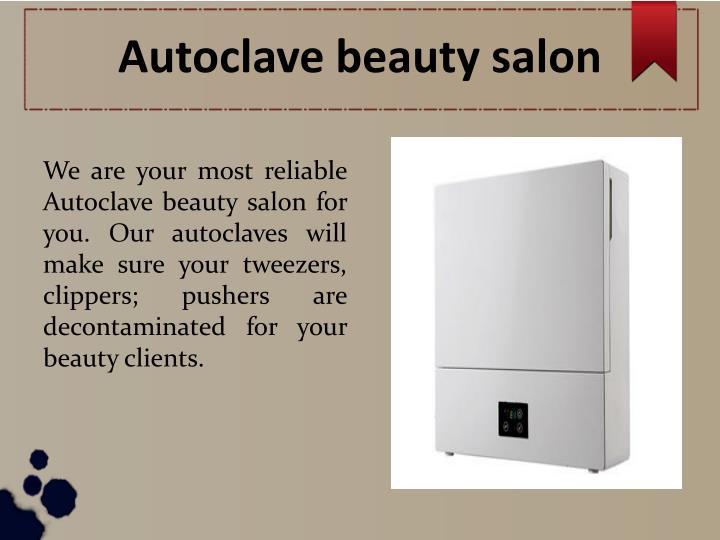 Autoclave beauty salon
