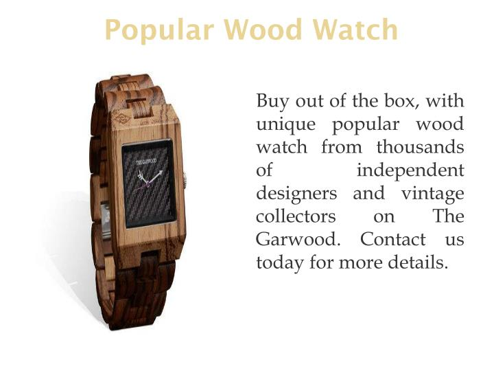 Popular Wood Watch