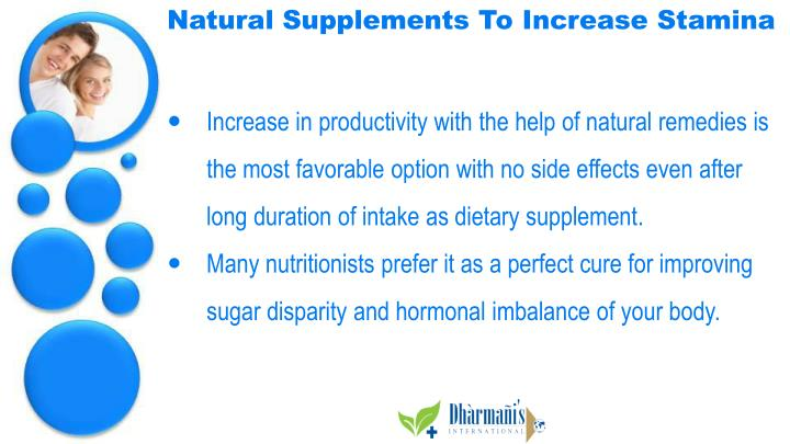 Natural Supplements To Increase Stamina