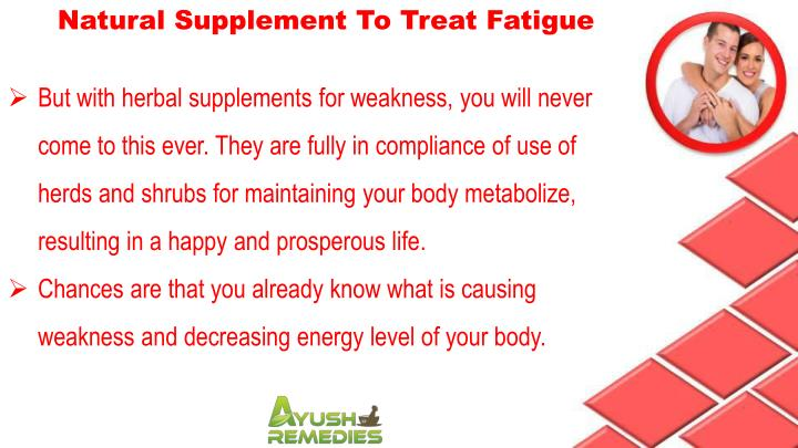 Natural Supplement To Treat Fatigue