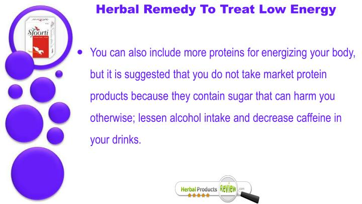 Herbal Remedy To Treat Low Energy