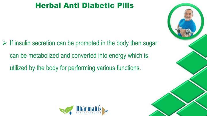 Herbal Anti Diabetic Pills
