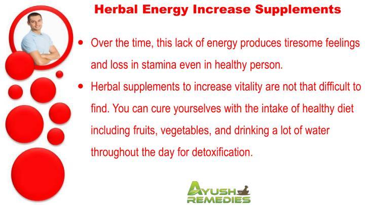 Herbal Energy Increase Supplements