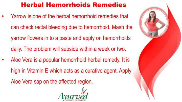 Herbal Hemorrhoids Remedies