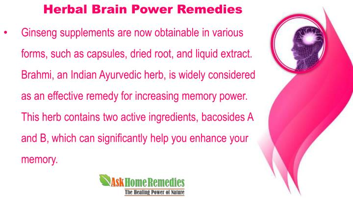 Herbal remedies for brain power