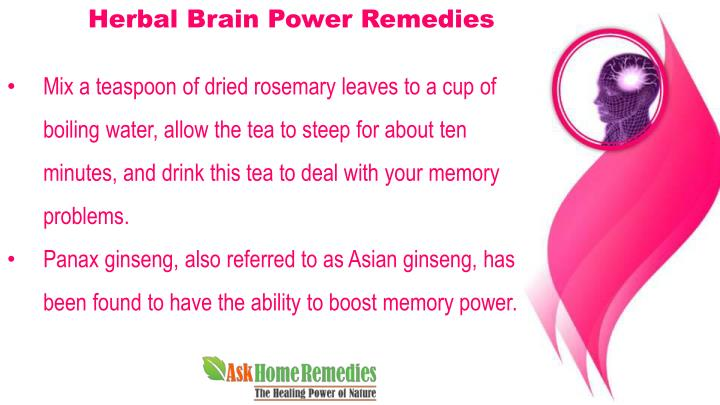 Herbal Brain Power Remedies