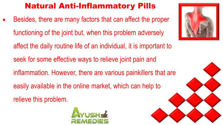 Natural Anti-Inflammatory Pills