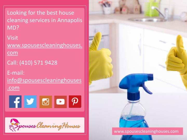 Looking for the best house cleaning services in Annapolis MD?