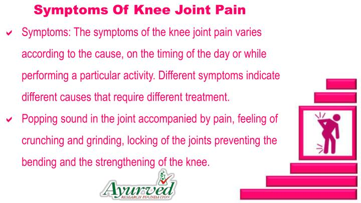 Symptoms Of Knee Joint Pain