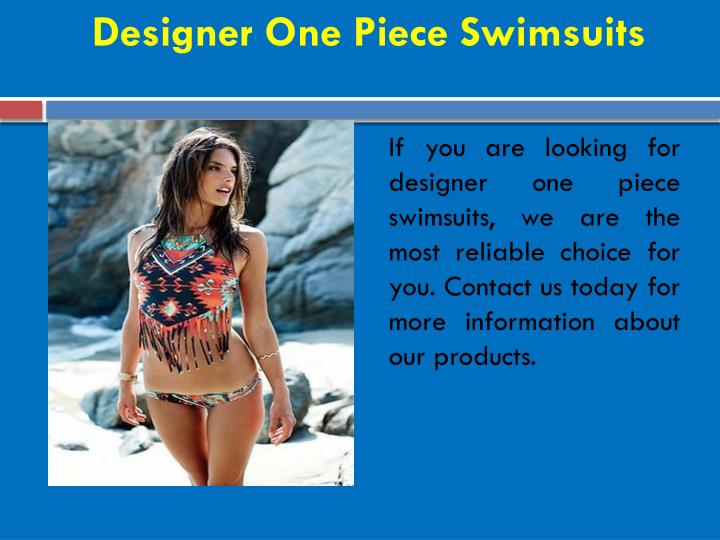 Designer One Piece Swimsuits