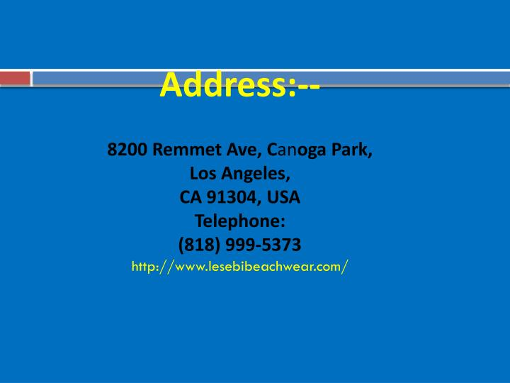 Address:--