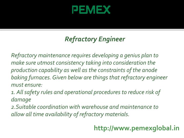 Refractory Engineer