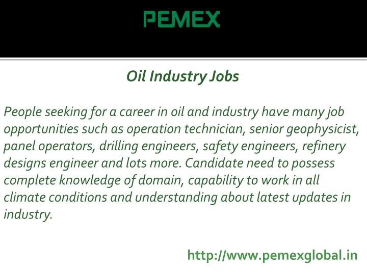Oil Industry Jobs