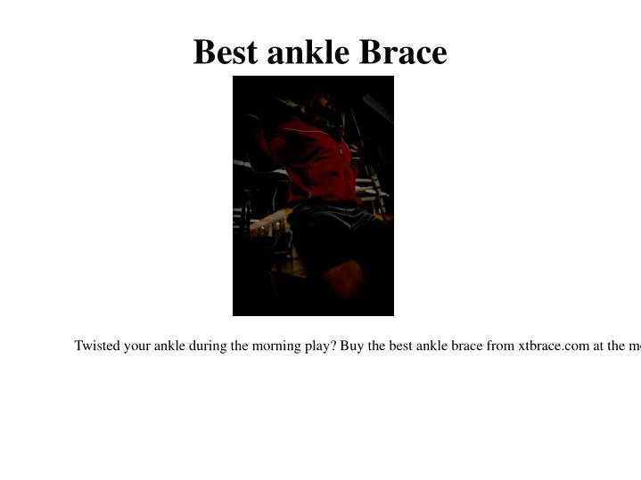 Best ankle brace