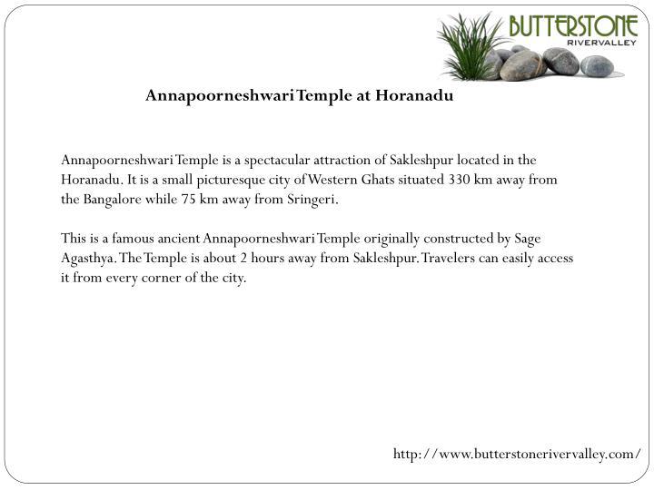 Annapoorneshwari Temple at Horanadu