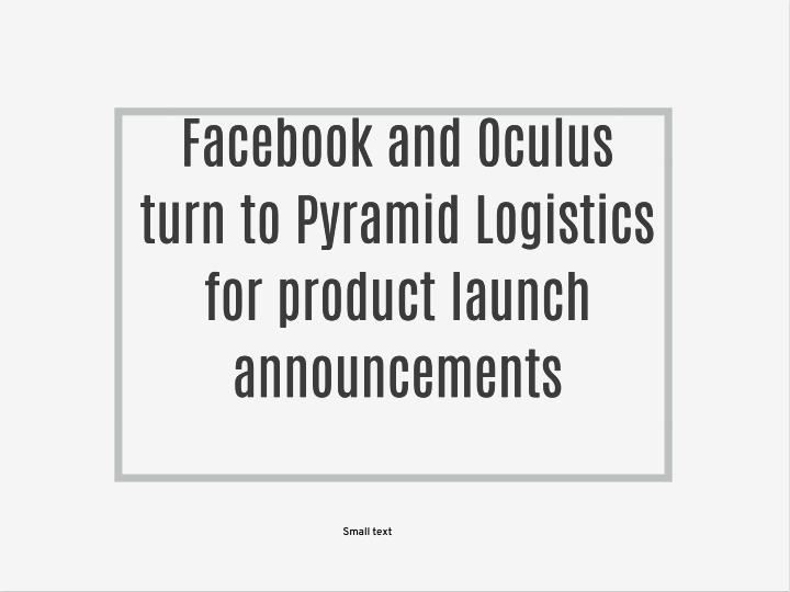 Facebook and Oculus