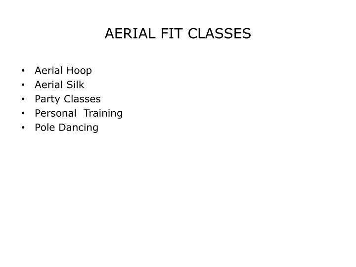 AERIAL FIT CLASSES