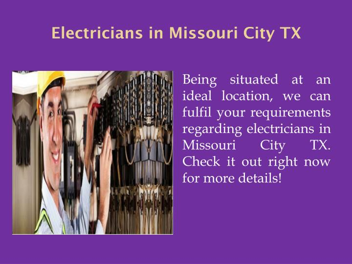 Electricians in Missouri City TX